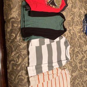 Four size small boy shirts